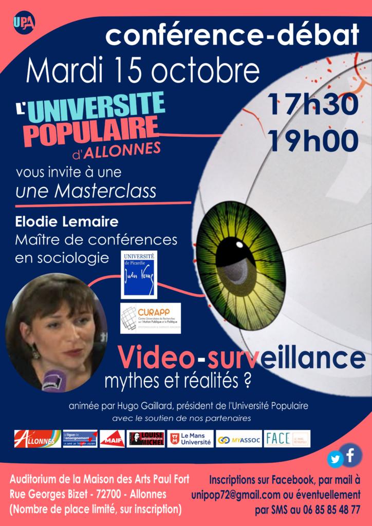 Conférence sur la vidéo surveillance
