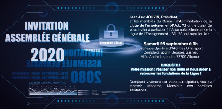 Invitation à notre AG 2020 !